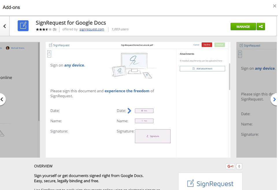 Elektronische Digitale Handtekening Gratis Google Docs