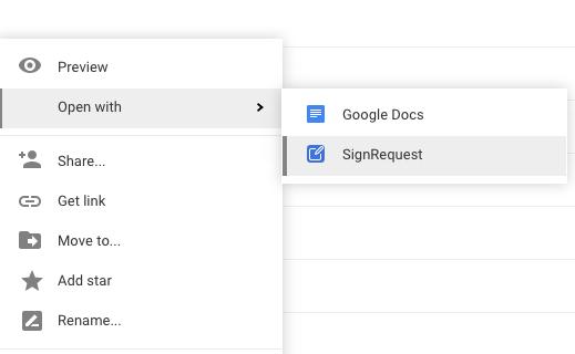Elektronische Digitale Handtekening Google Drive
